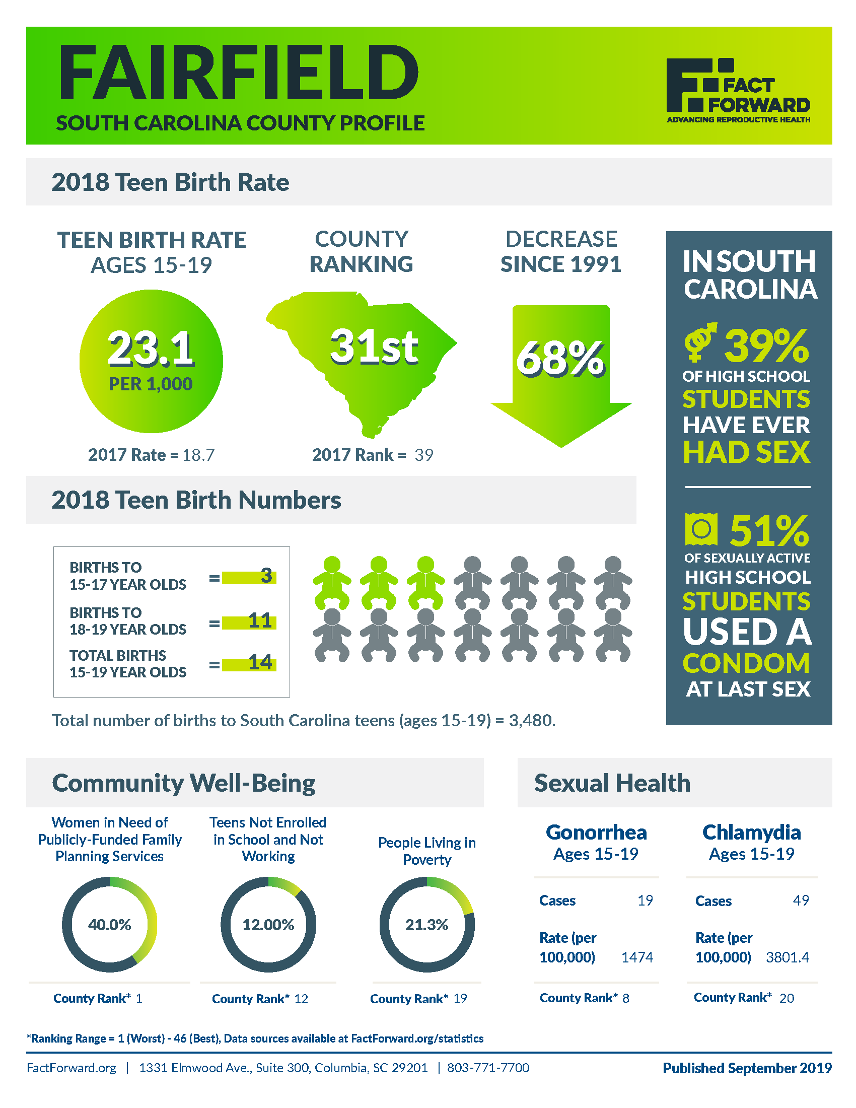 Fairfield Teen Birth Data